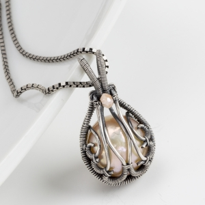 Dew Drop Pendant by Sarah Thompson