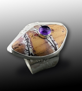 Double Decker Stone Ring by Janet Alexander