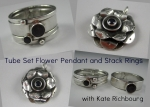 2/9/2014 10:30am - 6:00pm Kate Richbourg Tube Set Flower Pendant and Stack Rings