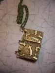 2/01/2015 10:30am - 2:00pm Brenda Branson Bronze Memories; Metal clay journal necklace