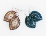 2/06/2015 2:30pm - 6:00pm Albina Manning French Beaded Petal Earrings