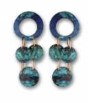 2/02/2017 10:30am - 2:00pm Janet Alexander Colorful Patina Waterfall Earrings