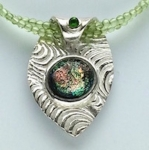 1/26/2018 10:30am-2:00pm Lyle Rayfield Roll Me Over: Silver Clay And Dichroic Glass Pendant