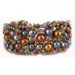 Wire Woven Pearl Cuff Bracelet