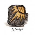 2/8/2019 10:30am-6pm B. Dale Koebnick Keum Boo Ring With Step Bezel And Tab Setting