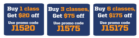 Buy 1 class, get $20 off with GS1420