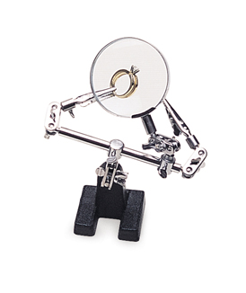 Double Third Hand with Clips and Magnifier||HOL-163.00
