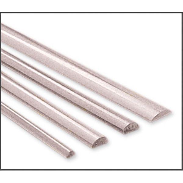 MET-310.16 - Sterling Silver Wire, .925, Half Round, 16 Gauge, 8.5 Feet