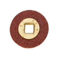 Adalox Brass Center Sanding Discs, 1/2 Inch, Fine Grit, Box of 100||ABR-155.01