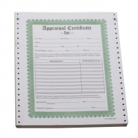 Appraisal Certificates, Box of 100||APR-100.00