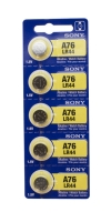 Maxell Battery, Energizer #A76, Pack of 5||BAT-MLR44