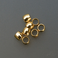 Base Metal Gold Crimp Beads, 2 Millimeters, Pack of 144||BDS-102.05