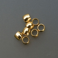 Base Metal Gold Crimp Beads, 3 Millimeters, Pack of 144||BDS-104.05