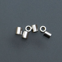 Sterling Silver Tube Crimp Beads, 2 X 2 Millimeters, Pack of 100||BDS-110.06
