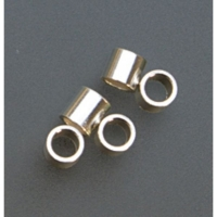 Sterling Silver Tube Crimp Beads, 3 X 3 Millimeters, Pack of 100||BDS-118.06