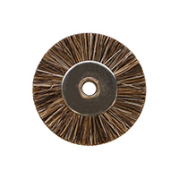 Unmounted Miniature Wheel Brushes, Medium Bristles, 3/4 Inch, 12 Pack||BRS-302.10