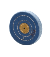 BLUE BUFF, LEATHER CENTER, 3 ROW STITCHED, 4X40||BUF-734.40
