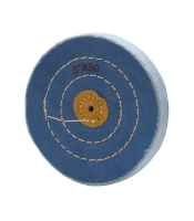 BLUE BUFF, LEATHER CENTER, 3 ROW STITCHED, 5X50||BUF-735.50