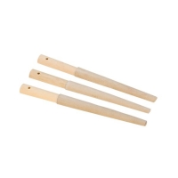 Chamois Half Round Buff Stick, Pack of 3||BUF-749.03