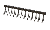 Cleaning Rack with Movable Hooks, 12 Hooks, 14-3/4 Inches||CLN-609.12