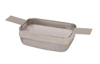 Rectangular Cleaning Basket, Standard Mesh, 4 by 3 by 1-1/2 Inches||CLN-651.00