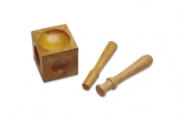 Wood Dapping Block with 2 Punches||DAP-128.00