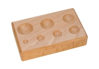 Hardwood Forming Block, Round Depressions, 6-1/4 by 4 by 1-1/4 Inches||DAP-155.00