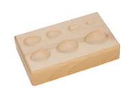 Hardwood Forming Block, Pear Depressions, 6-1/4 by 4 by 1-1/4 Inches||DAP-156.00