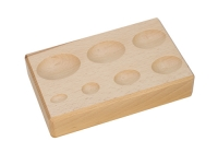 Hardwood Forming Block, Oval Depressions, 6-1/4 by 4 by 1-1/4 Inches||DAP-157.00