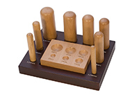 8PC WOOD DAPPING SET W/BLOCK AND STAND||DAP-168.00