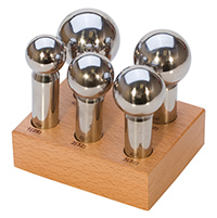5PC LARGE PUNCH SET W/WOOD STAND (28mm-45mm)||DAP-725.00