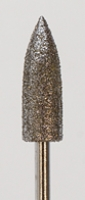 Large Bullet Diamond Bur, Coarse Grit, 6 Millimeters by 17 Millimeters||DIB-145.16