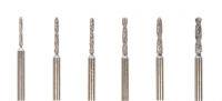 Diamond Coated Uniform Shank Drills, Set of 6||DIB-210.00