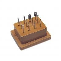 """Diamond Supreme"" Diamond Point Set, #1 12 Piece Set in Wood Stand