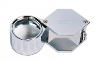 Loupe, 10X Hex Triplet, Silver, 21.5 Millimeter||ELP-746.03