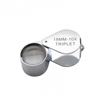 Diamond Loupe, 10X Triplet, Chrome, 18 Millimeters||ELP-750.03