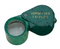 Diamond Loupe, 10X Triplet, Green Malachite, 18 Millimeters||ELP-753.06