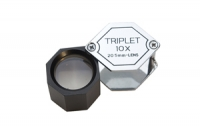 Economy Hexagonal Loupe, 10X Triplet, Chrome and Black 20.5 Millimeters||ELP-757.00