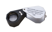 LED/UV LIGHTED LOUPE- 10 X, 21MM||ELP-768.01