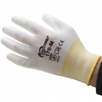 Polyurethane Palm Coated Gloves, Medium, 12 Pair||GLV-170.20