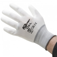 Polyurethane Palm Coated Gloves, Large, 12 Pair||GLV-170.30