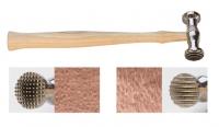 Texturing Hammer, Checkered/Wide Stripe||HAM-460.01