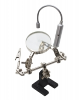 Helping Hand Magnifier with Flexible LED Light||HOL-161.50