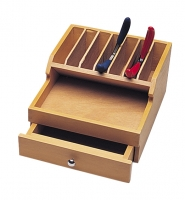 Wood Plier Rack with Drawer||HOL-309.00