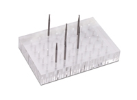 Lucite Bur and Accessories Block, 40 Holes, 4-1/4 by 3 by 3/4 Inches||HOL-340.00