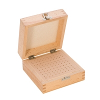 Wood Storage Box, 100 Holes, 5-1/2 by 5-1/2 Inches||PKG-100.00
