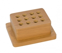 Premium Wood Punch Stand, 12 Holes||PKG-112.00