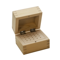 Wood Storage Box, 20 Holes, 3 by 5 Inches||PKG-120.00