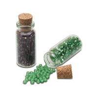 Seed Bead Bottle with Cork Lid, Pack of 50||PKG-200.00