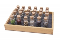 Wood Bottle Storage Tray, 7-1/4 by 5-1/4 by 1 Inches||PKG-210.00